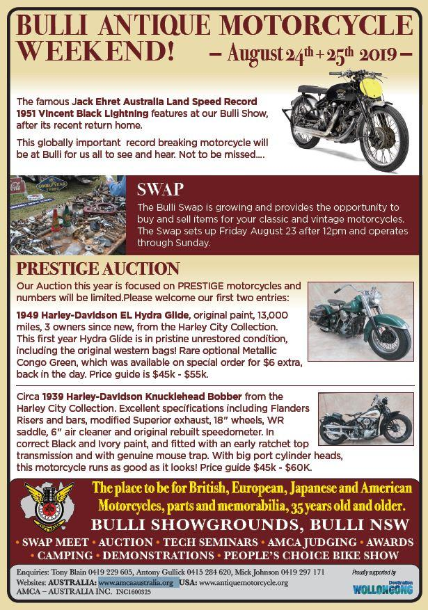 Bulli Antique Motorcycle Weekend